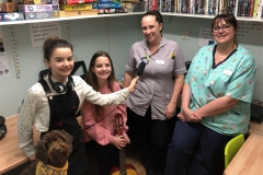 Kids presenters at Neptune Ward with staff
