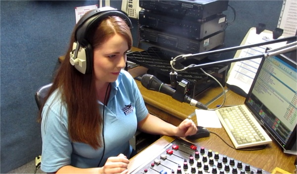 Alice Ryan On-air at Southend Hospital Radio