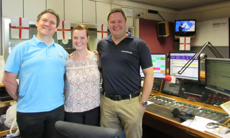 Pete, Alice and Joe at BBC Essex