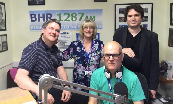 Pete, Jacqui, Alan and Aris at Basildon Hospital Radio in May 2016