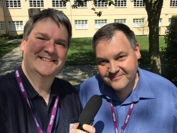 Pete Sipple from Southend Hospital Radio talking to Paul Devlin from the NHS
