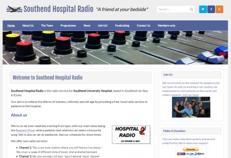 Southend Hospital Radio Website 2016