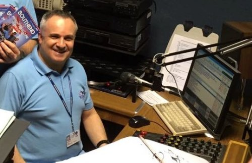 Barry Shine at work in the Southend Hospital Radio studio