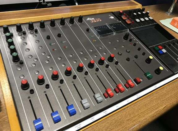 The newly-refurbished mixing desk in Studio Two