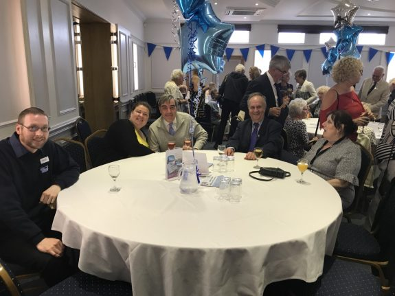 Southend Hospital Radio's table at the 2017 Volunteer Awards