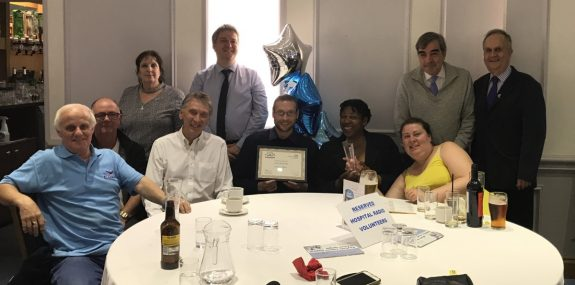 The Southend Hospital Radio Team at the 2017 Volunteer Awards